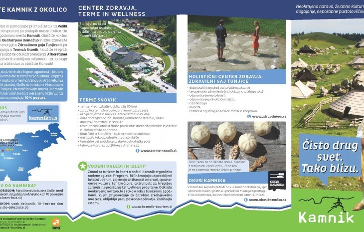 Tourism Flyer for City Kamnik
