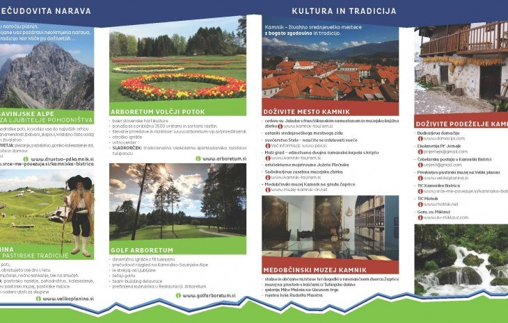 Flyer for city Kamnik
