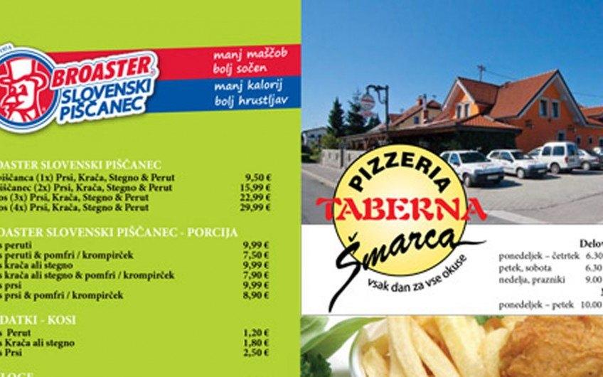 Restaurant price list