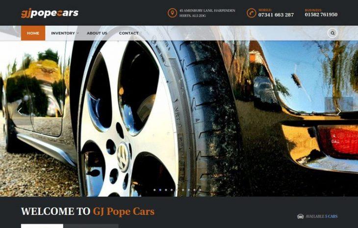GJ Pope Cars