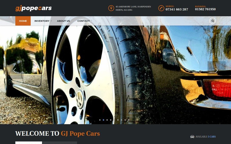 GJ Pope Cars
